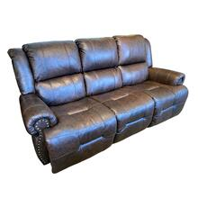 GENET Power Leather Recliner Sofa with Power Tilt Headrest #232544