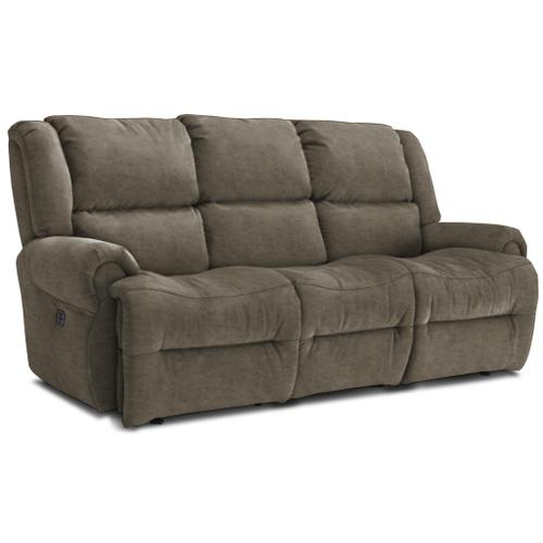 Best Home Furnishings - GENET Power Reclining Sofa with Headrest in Grey Signature Series Leather