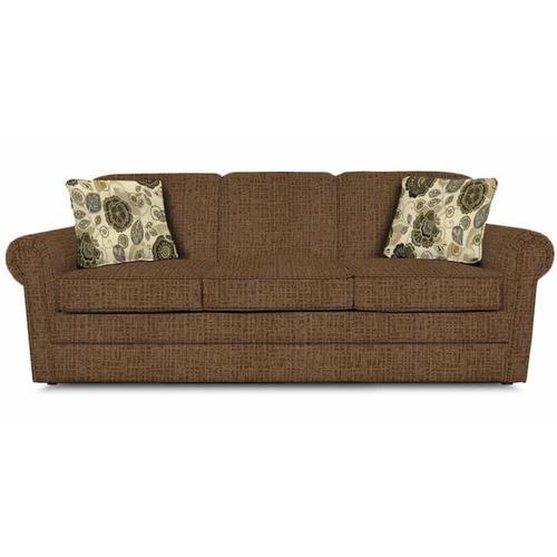 England Furniture - Savona Queen Sleeper 909 - Perth Leather with Monita Adrift Pillows