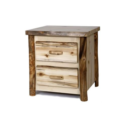 House Lodge Collection - Aspen 2 Drawer NIghtstand