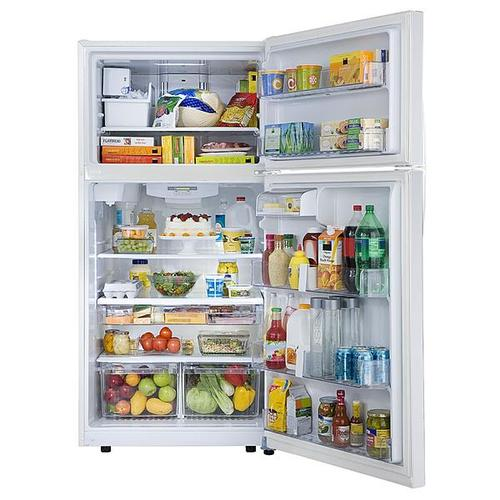 33-inch Top Freezer Refrigerator with Ice & Water - White