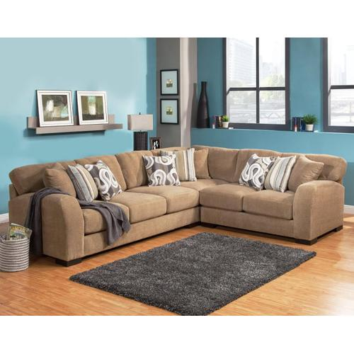 Gallery - Wesley 3Pc Sectional - Camel