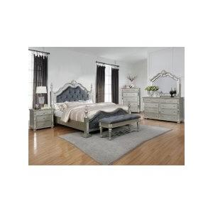 Sterling Qn Bed, Dresser, Mirror, Chest and Nightstand