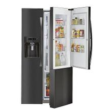 Counter-Depth Side-by-Side Refrigerator w/ Grab-N-Go™ - Black Stainless