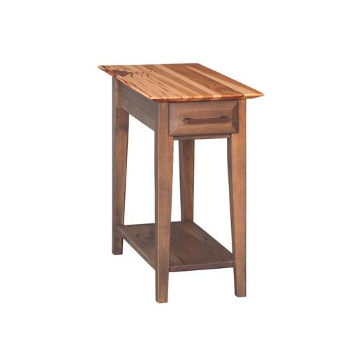 Country Value Woodworks - Simplicity Chairside Table With Drawer