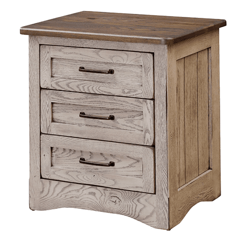 Country Classics Furniture - Farmstead 3 Drawer Nightstand (Available in a Variety of Colors and Wood Stains)