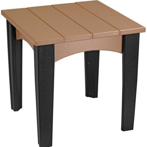 Island End Table Cedar and Black