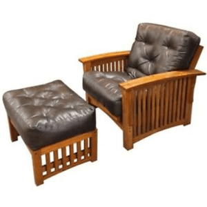 "Manhattan Futon Frame - 28"" Chair with ottoman"