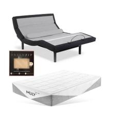 Leggett & Platt Prodigy Comfort Elite Adjustable Bed, MLily Fusion 1000 Hybrid Firm Mattress, and set of Dreamfit Sheets