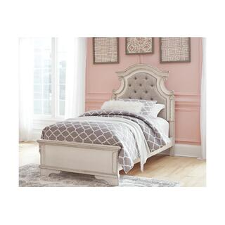 Realyn Chipped White Twin Bed Set