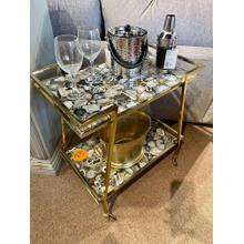 See Details - Marble Bar Cart - CLOSEOUT
