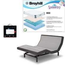 Leggett & Platt Prodigy 2.0 Adjustable Bed, Broyhill 800 Cool Gel Memory Foam Mattress, and set of Dreamfit Sheets