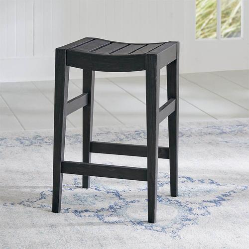 Color Nook Counter Height Barstool Black