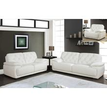 U1066-WH - White - Loveseat