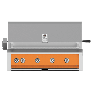 """Aspire By Hestan 42"""" Built-In Grill With U-Burner, Sear, And Rotisserie NG Citra Orange"""