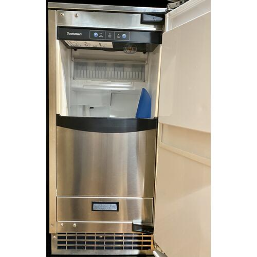 Scotsman SCCP50MB1SS     Brilliance™ Under-Counter Gourmet Ice Machine - Stainless Steel / Stainless Steel - Pump