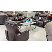 Paramount Brown POWER motion Sofa, Loveseat and Recliner