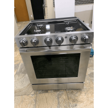 "5.8 cu. ft. 30"" Chef Collection Professional Gas Range with Dual Convection in Stainless Steel"