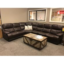Palliser 6pc Leather Sectional with the Works