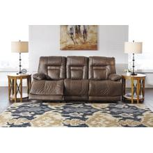 Ashley Power Reclining Sofa with Adjustable Headrest Wurstrow Umber