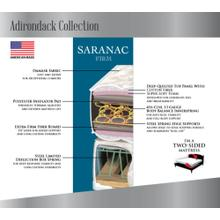 Adirondack Collection - Saranac - Firm
