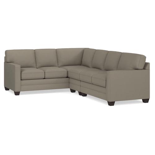 Bassett Furniture - Alex Track Arm Right Sectional - Fog