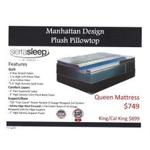 Ashley Manhattan Desigh Plush Pillowtop Mattress by Sierra Sleep