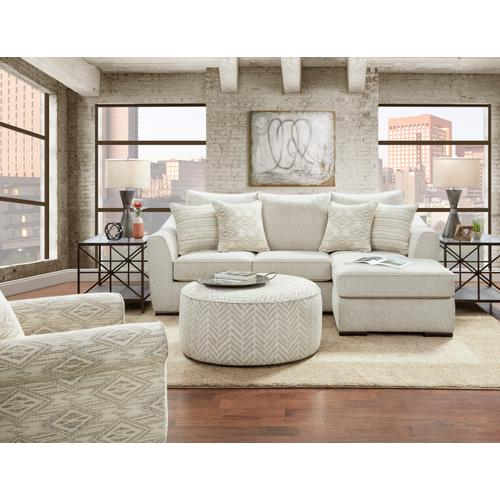 Fusion Furniture - Passageway Vanilla Cocktail Ottoman