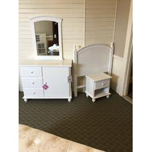 "Powell 4 Piece ""Cottage"" White 929-189 Twin Bedroom Set"