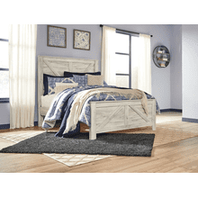 Bellaby- Whitewash- Queen Cross-Buck Panel Bed