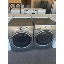 Refurbished Grey Whirlpool Front Load Washer Dryer Set Please call store if you would like additional pictures. This set carries our 6 month warranty, MANUFACTURER WARRANTY AND REBATES ARE NOT VALID (Sold only as a set)