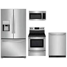 Frigidaire 4-Piece Stainless Kitchen Package with French Door Refrigerator