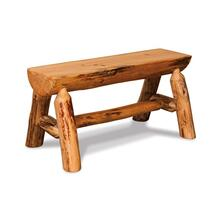 Amish Rustic Half Log Bench