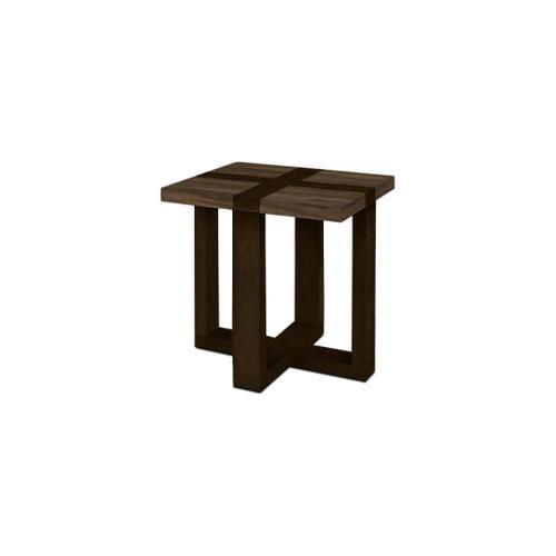 Bassett Furniture - Skyline Maple End Table with Steel Top & Dark Chestnut Base