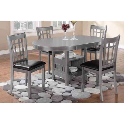 Lavon Gray Table and 4 Chairs