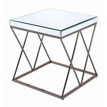 End Table, Lola Essence Collection, Nickel Finish