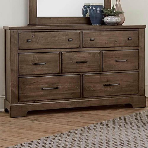 Artisan & Post Solid Wood - Cool Rustic Solid Maple Dresser - Mink Finish