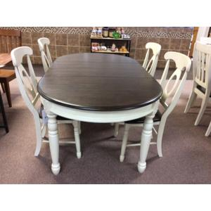 A America - Extending Leg Table and 4 Napoleon Side Chairs