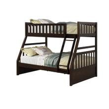 LIFESTYLE CB803E-JXA CB803E-JQX CB803E-J08 Shira Espresso Twin Size Over Full Size Bunk Bed