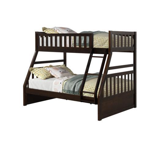 LIFESTYLE CB803E-JXA CB803E-JQX CB803E-J08 Shira Espresso Twin Size Over Full Size Bunk Bed