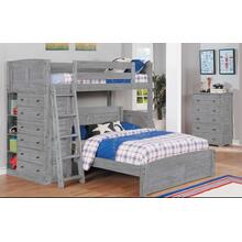 See Details - Twin Full Loft with Storage Grey Finish