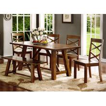 Farmhouse Collection - Table, 4-Side Chairs and Bench.