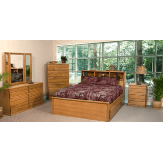 Contemporary Oak Captains Bed
