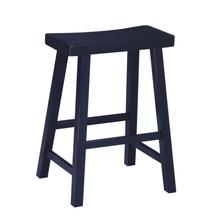 Saddle Seat Black Counter and Bar Stool