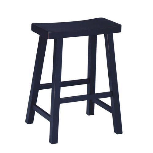 Saddle Seat Black Counter and Bar Stool