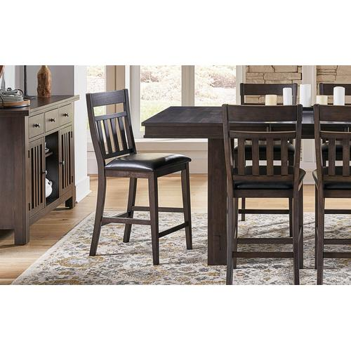 Bremerton Gray Pub Table with 6 Stools