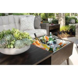 Ava Rectagular Coffee Table w/ Ice Bucket