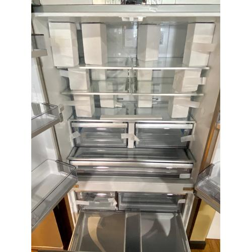 """Blomberg BRFD2230SS    36"""" French Door Refrigerator 22.3 cu ft, stainless doors, stainless handles"""
