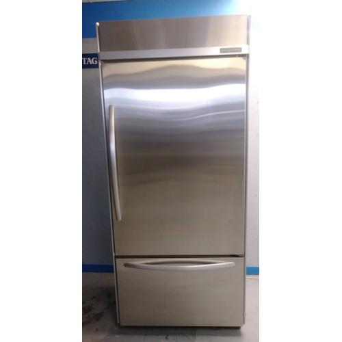 "36"" Kitchenaid Built-In Bottom-Freezer Refrigerator Architect Series II (USED) *90 Day Warranty*"