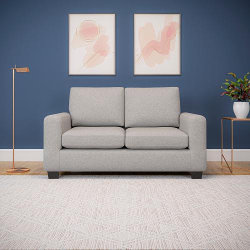 Malouf - Rest Haven Love Seat Light Gray